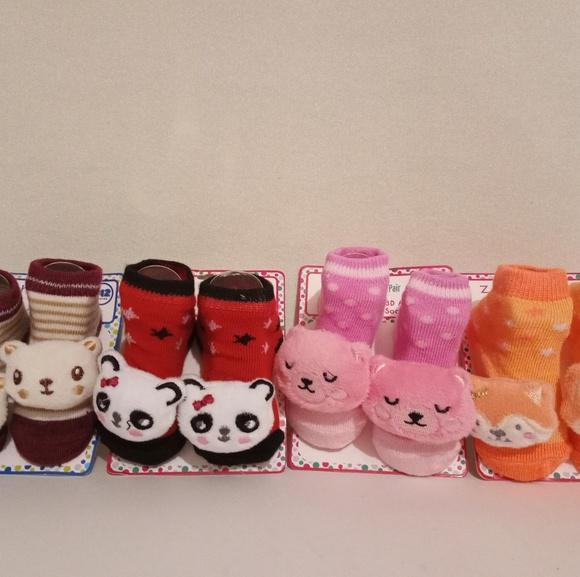 Zak & Zoey Other - 4 pairs of ZAK & ZOEY  Newborn Baby 3D Animal Sock